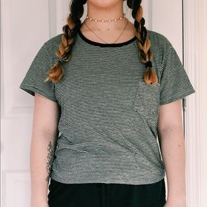 Comfy striped black and white tee!